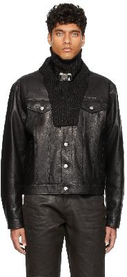 1017 ALYX 9SM Black Knit Buckle Scarf