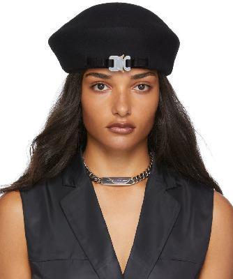1017 ALYX 9SM SSENSE Exclusive Black Wool Beret Hat