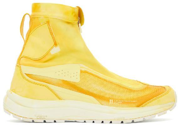 11 by Boris Bidjan Saberi Yellow Salomon Edition Bamba 2 High Sneakers