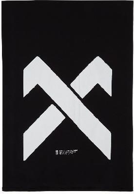 11 by Boris Bidjan Saberi Black Logo Mastercross Scarf