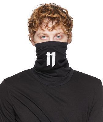 11 by Boris Bidjan Saberi Black & White Logo Face Mask