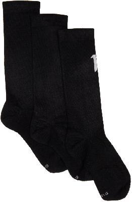 11 by Boris Bidjan Saberi Three-Pack Black Logo Type Socks