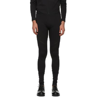 132 5. ISSEY MIYAKE Black A-POC Legging Sweatpants