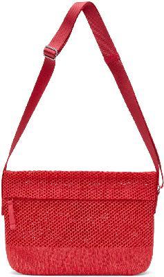 132 5. ISSEY MIYAKE Red Kago Messenger Bag