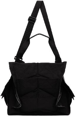 132 5. ISSEY MIYAKE Black & Silver Standard Messenger Bag