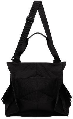 132 5. ISSEY MIYAKE Black Standard Messenger Bag