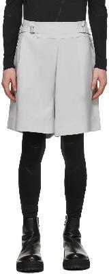 132 5. ISSEY MIYAKE Grey Flat Bottoms Shorts