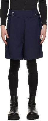 132 5. ISSEY MIYAKE Navy Flat Bottoms Shorts