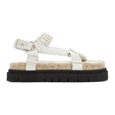 3.1 Phillip Lim Off-White Noa Platform Espadrille Sandals