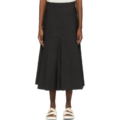 3.1 Phillip Lim Black Pleated A-Line Skirt