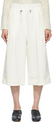 3.1 Phillip Lim White Twill Pull-On Culotte Shorts