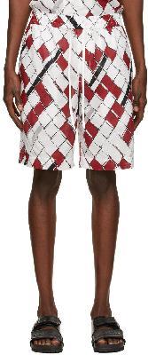3.1 Phillip Lim Red & White Chainlink Cruiser Shorts