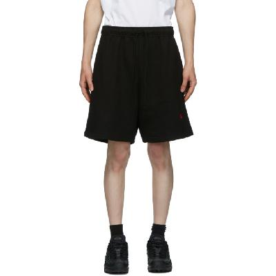 424 Black Logo Shorts