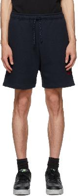 424 Navy Logo Shorts