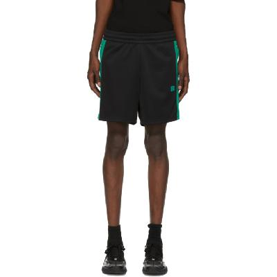 Acne Studios Black and Green Side-Stripe Track Shorts