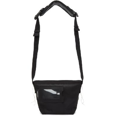 Acne Studios Black Canvas Messenger Bag