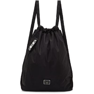 Acne Studios Black Ripstop Drawstring Backpack