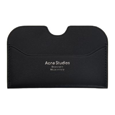 Acne Studios Black Logo Card Holder