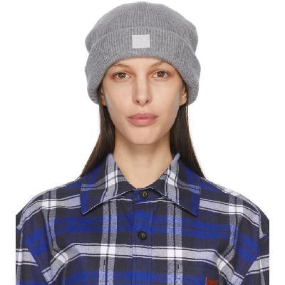 Acne Studios Grey Wool Patch Beanie