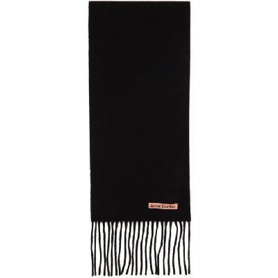 Acne Studios Black Wool Narrow Scarf