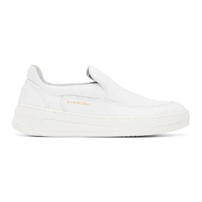 Acne Studios White Chunky Slip-On Sneakers