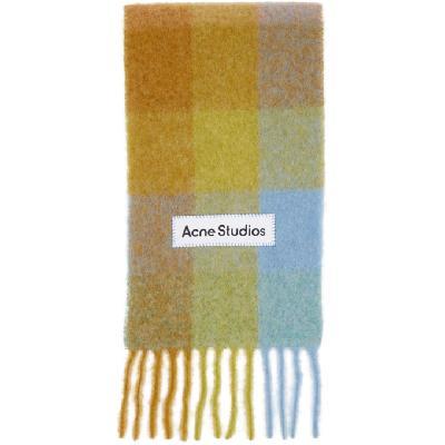 Acne Studios Multicolor Alpaca & Mohair Large Check Scarf