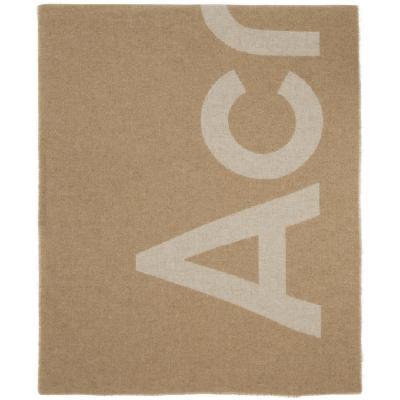 Acne Studios Beige Logo Scarf