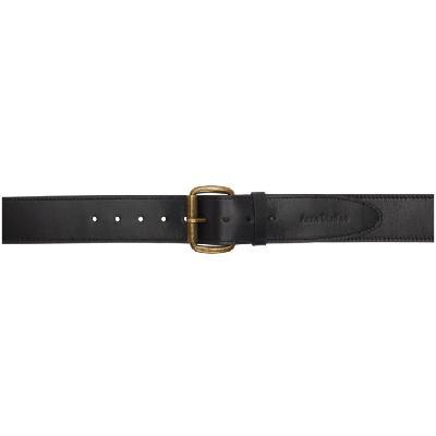 Acne Studios Black Leather Wide Belt