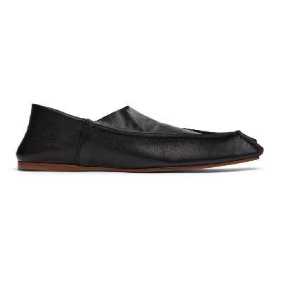 Acne Studios Black Lambskin Slippers