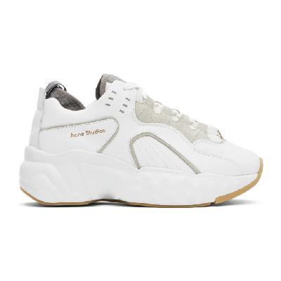 Acne Studios SSENSE Exclusive White Nappa Manhattan Sneakers