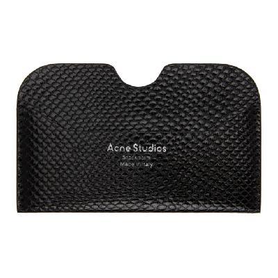 Acne Studios Black Snake Card Holder