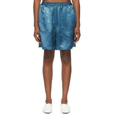 Acne Studios Blue Satin Shorts