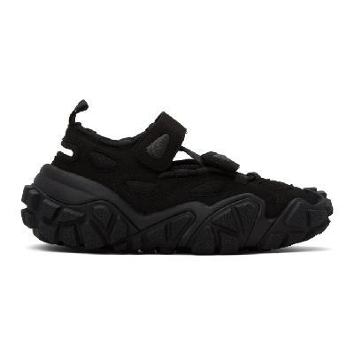 Acne Studios SSENSE Exclusive Black Suede & Mesh Sneakers