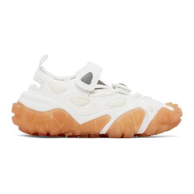 Acne Studios SSENSE Exclusive White & Pink Velcro Sneakers