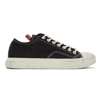 Acne Studios Black Canvas Low-Top Sneakers