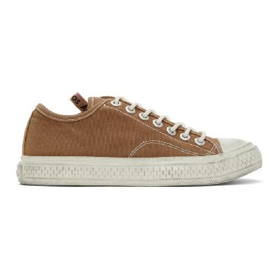 Acne Studios Brown Canvas Sneakers