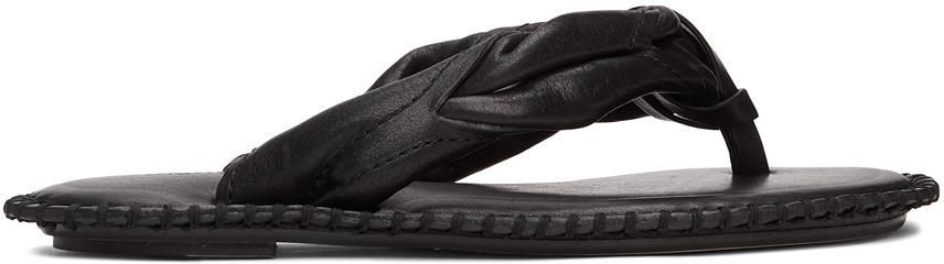 Acne Studios Black Blanket Stitch Sandals