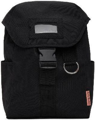 Acne Studios Black Canvas Large Backpack