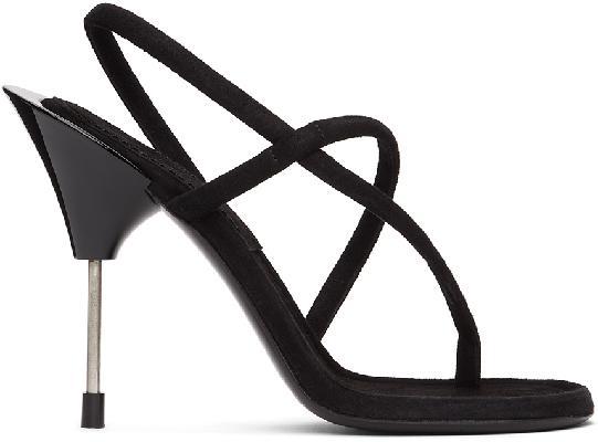 Acne Studios Black Suede Stiletto Sandals
