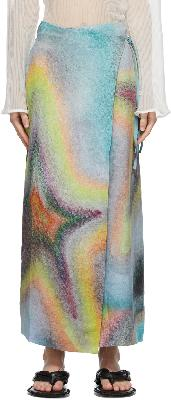 Acne Studios Multicolor Ben Quinn Edition Linen Skirt