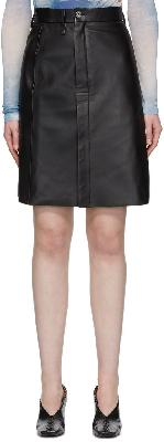 Acne Studios Black Leather Pencil Skirt