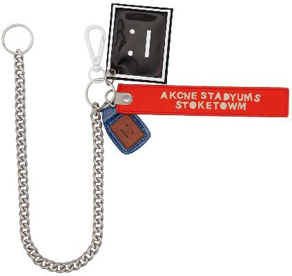 Acne Studios Orange Akaroa Face Keychain