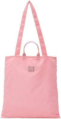 Acne Studios Pink Logo Plaque Tote