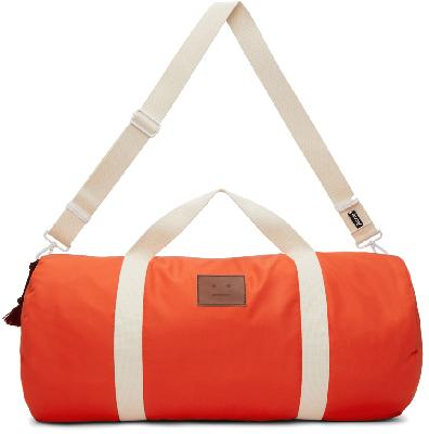 Acne Studios Orange Arataki Face Duffle Bag