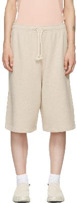 Acne Studios Beige French Terry Shorts