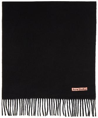 Acne Studios Black Wool Oversized Scarf