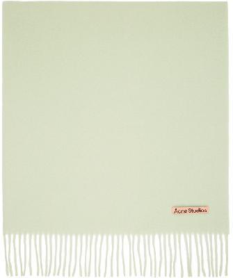 Acne Studios Green Wool Oversized Scarf