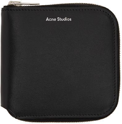Acne Studios Black Zip Wallet