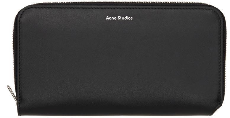 Acne Studios Black Continental Wallet