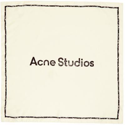 Acne Studios Off-White Branded Scarf